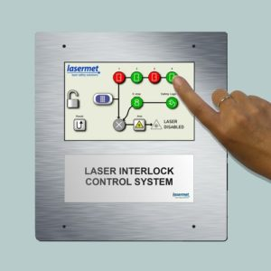 Touch screen interlock controller for hospitals